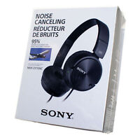 Sony MDR-ZX110NC MDR ZX110NC Noise Cancelling Stereo Headphone Black - NEW