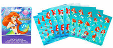 The Little Mermaid ARIEL Party Supplies Favours STICKER BOOKLET 9 Pages Licensed