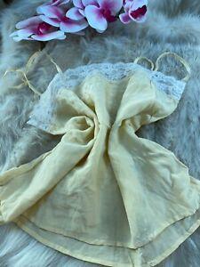 Unbranded yellow Camisole Top sleepwear nightwear size L