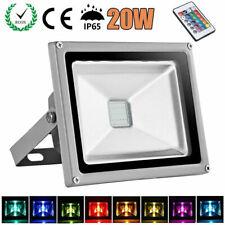 20W LED RGB Fluter Flutlicht Außenleuchten Strahler Scheinwerfer Dimmbar DHL