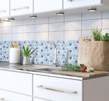 Bathroom Kitchen Wall Peel and Stick 2 Sticker Wallpaper Tile Aqua Backsplash
