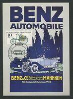 BUND MK 1982 AUTOS BENZ CARS AUTO MAXIMUMKARTE CARTE MAXIMUM CARD MC CM d3382