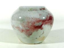 WMF Ikora Art Deco Keramik Vase mit Ochsenblutglasur ° Keramikvase mit Burgmarke