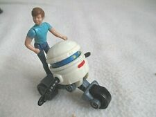 JOUET MASK KENNER T.BOT SCOOTER ROBOT + SON PERSONNAGE COMPLET SANS BOITE 1986