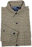 Polo Ralph Lauren GI Shirt Large Mens Long Sleeve Button Down Plaid Size Sz L