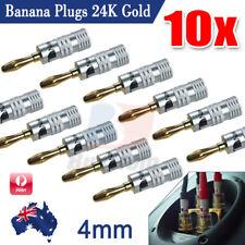 10x Nakamichi Speaker Banana Plugs 24k Gold Connector AU Stock