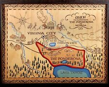 "MAP OF THE PONDEROSA FROM THE TV SERIES ""BONANZA""  8X10 PUBLICITY PHOTO (FB-457)"