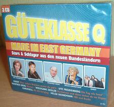 GÜTEKLASSE Q - Stars & Schlager aus den neuen Bundesländern  3 CDs (NEU/OVP)