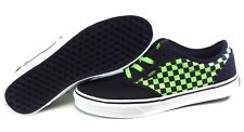 Boys Kids Youth Vans Atwood Checkers Canvas Black Green retro Sneakers Shoes