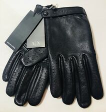 New Armani Exchange Mens A/X LEATHER DRIVING GLOVE