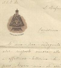 Lettera su Carta Illustrata Gesù Infante di Praga San Rufino Assisi 1899