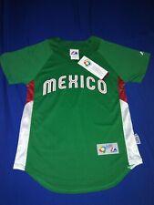 "*MEXICO*(2009)""World Basball Classic"" Green (Blank Back) Majestic Jersey*NEW*(M)"