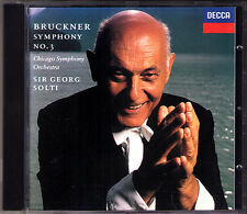 Sir Georg SOLTI: BRUCKNER Symphony No.3 Nowak DECCA CD 1994 Chicago Sinfonie