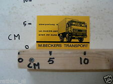 STICKER,DECAL DAF 2500 ? M BECKERS TRANSPORT TRUCK RIPS
