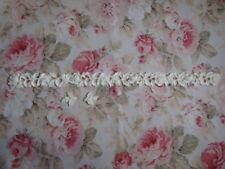 """Antique Carved Rose & Leaf Molding 34 1/4"""" Furniture Applique Architectural"""