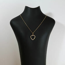 18ct gold diamond heart pendant made in denmark