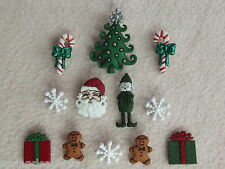 Dress IT UP pulsanti ~ mm Natale ~ SANTA ~ ALBERO ~ ELF ~ GINGERBREAD Uomini ~ presenti