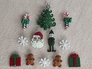 DRESS IT UP BUTTONS ~ MM CHRISTMAS ~ SANTA ~ TREE ~ELF ~GINGERBREAD MEN ~PRESENT