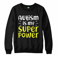 Autism Is My Super Power Jumper, Awareness Ideas Youth's Adult & Kids Jumper Top