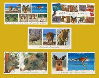 Australia Animals, Kangaroo, Koala and more,5 x  Panorama Postcards