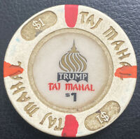$1 Trump Taj Mahal CASINO CHIP - ATLANTIC CITY, New Jersey - House Mold Obsolete