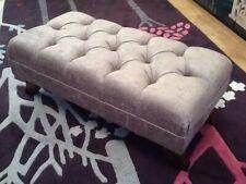Footstool Stool In Laura Ashley Matilda Truffle Fabric