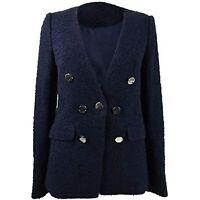 MSRP $130 Calvin Klein Seven-Button Blazer Twilight Blue Size 4