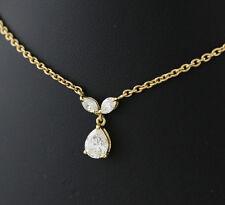 Reinheit VS Sehr gute Echtschmuck-Halsketten & -Anhänger im Collier-Stil aus Gelbgold