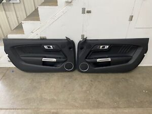 2015-2017 Ford Mustang GT V6 EcoBoost LH RH Leather Door Panels Pair - OEM