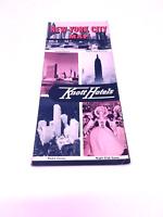 Vtg NYC New York City Knott Hotel Brochures