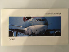 NORTHWEST AIRLINES DC10 BROCHURE VINTAGE 1990s