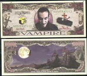 Vampir - Count Dracula Million Dollar Neuheit Geld