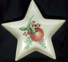 "Lenox Star Boxwood And Pine Candy Mint Dish Bowl Apple 7.5"" White Green Red New"