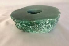 Raw Green Aventurine Candle Holder Tea Light Candle Holder