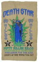 DEATH STAR STRAIN BURLAP BAG 031 marijuana bags sack pot leaf strains storage