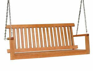 Hängebank Eukalyptus 2-Sitzer 130 cm - Garten Schaukel Bank Hartholz zum hängen