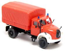 Preiser 1200 Magirus Mercur 125 A LKW PrPl Feuerwehr neutral rot GW 1:87 H0