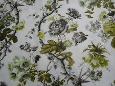 Schumacher Fabric ELIZABETH 1.5 METRES (150cm) Acid Green/Greige - 100% Cotton