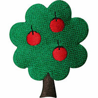 Apple Tree Embroidered Iron / Sew On Patch Clothing Bag Jacket Hat T Shirt Badge