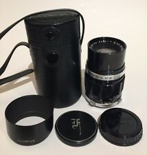 Olympus E. Zuiko Auto-T 100mm f/3.5 Olympus PEN F Half Frame Manual Focus Lens