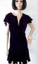 Dress RALPH LAUREN . Dark Purple H. Quality VELVET / Silk . NWT . VERY Limited
