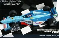 MINICHAMPS BENETTON F1 model Launch / race cars G Fisichella / A Wurz 1998 1:43