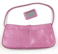Alfani Pink Purse Genuine Leather Shoulder Bag Baguette Inner Zip Pocket 76b223fdbc
