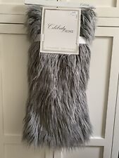 "Stein Mart ""Celebrity Home"" 50"" x 60"" Luxe Mohair Throw Blanket Gray"