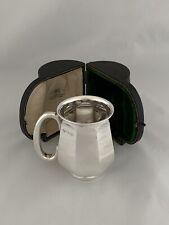 More details for antique silver beer mug & case 1910 london goldsmiths & silversmiths sterling