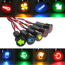 Precableado 12V 8mm LED indicador de luz de advertencia de los pilotos de panel Tablero Coche Camión Barco