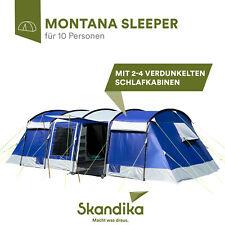 Skandika Montana 10 Sleeper Tente tunnel Familiale 10 Pers. Bleu 700x370cm NEUVE