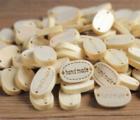 20pcs 2 Holes Sewing Wood Buttons Hand Made Word Scrapbooking Crafts Decorate IJ
