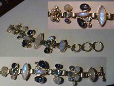 Elegant MOONSTONE, MysticTopaz SS .925 STERLING SILVER Designer Bracelet