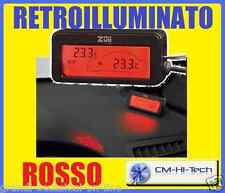 TERMOMETRO 12V INT/EST DISPLAY DIGITALE RETROILLUMINATO RED AUTO MONOVOLUME SUV